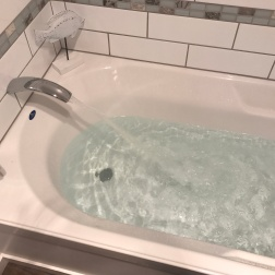 Bath for a sick human