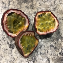 Passionfruit from mum's garden